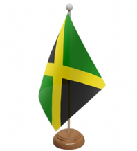 JAMAICA - TABLE FLAG WITH WOODEN BASE